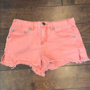 Free People Cropped Jean Shorts